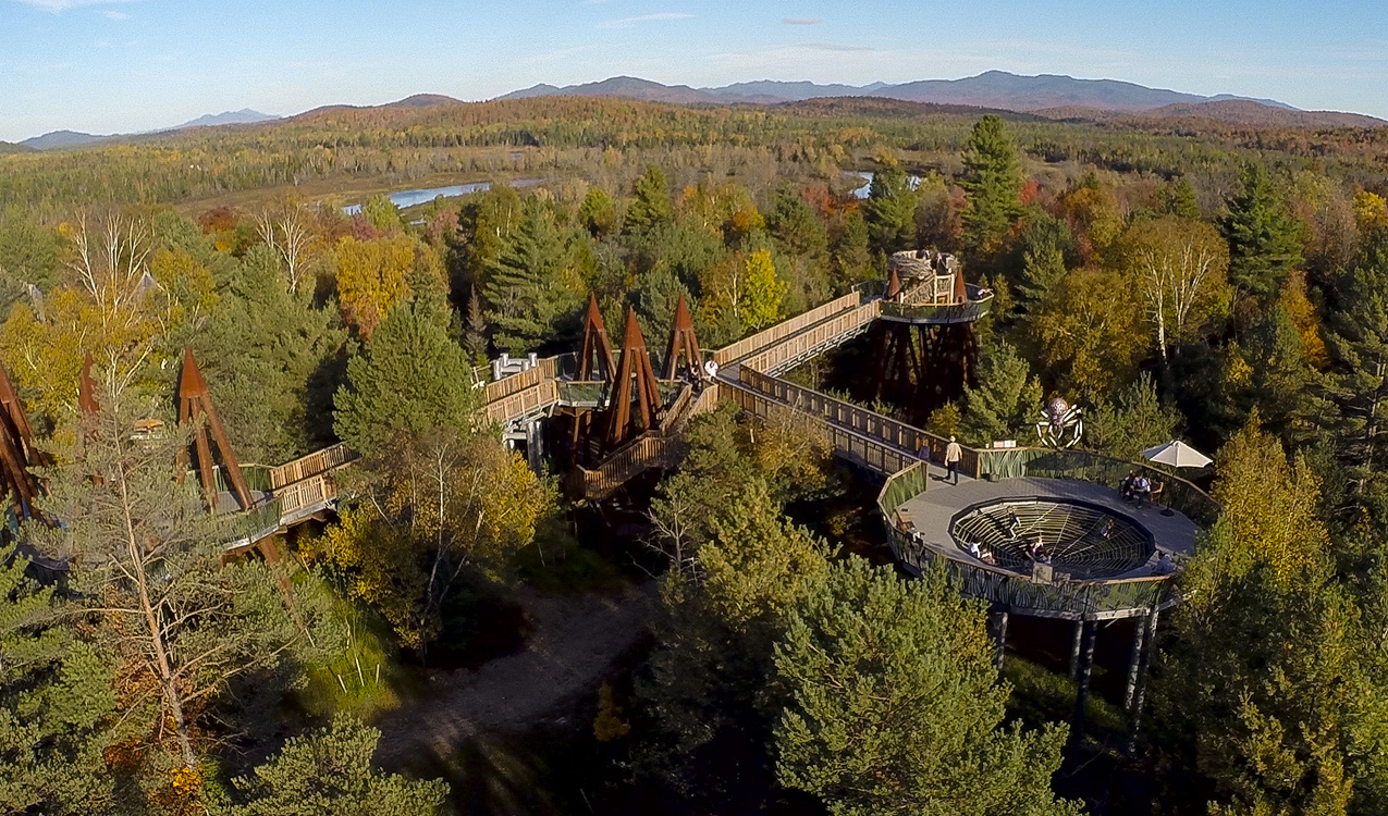 Tupper Lake in Upstate New York (USA) is open for business.